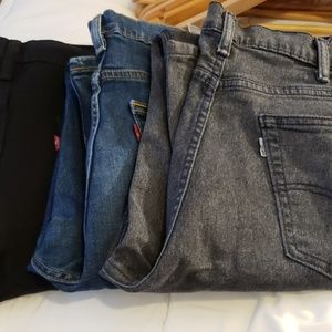 3 pair of Levi's jeans